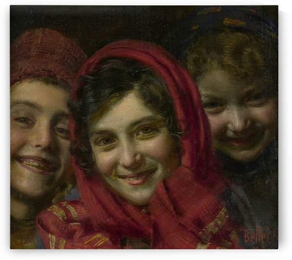 Three children by Gaetano Bellei