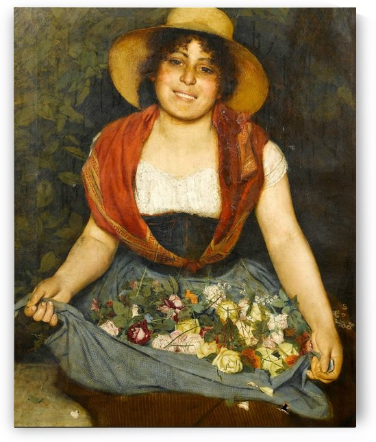Tuscan flower girl by Gaetano Bellei
