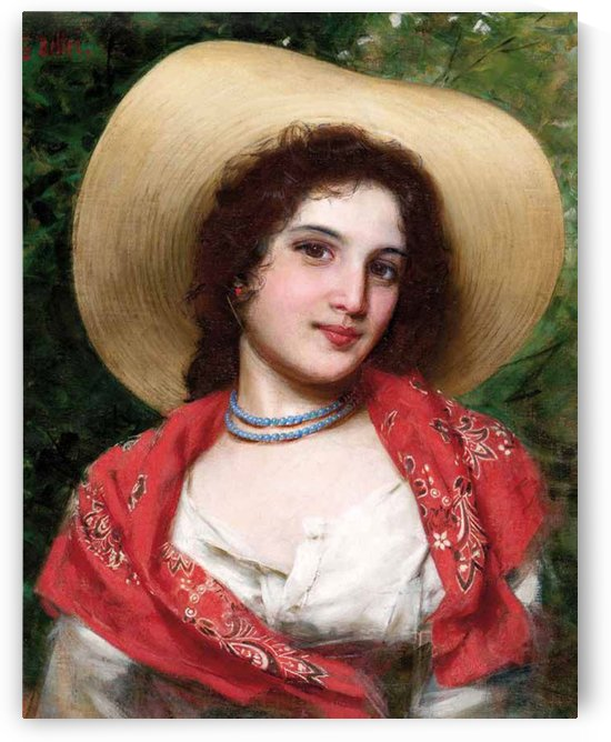 Beautiful Italian girl by Gaetano Bellei