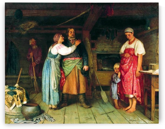 Arrival of the cabman to his house by Firs Zhuravlyov