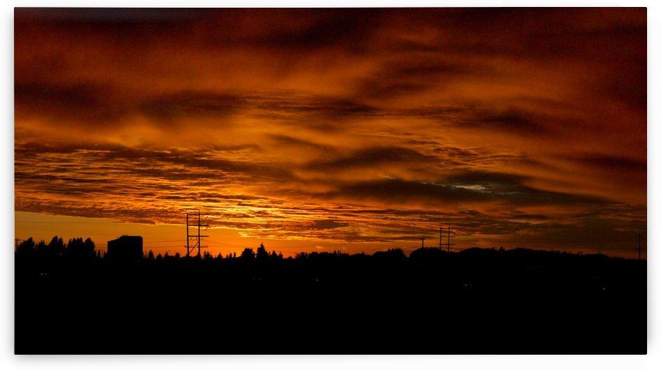 Burning SunSet by Robert Stewart
