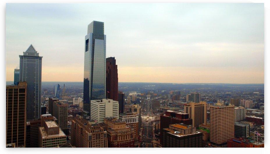 Philadelphia skyline 1 by Victor F Rodriguez Jr