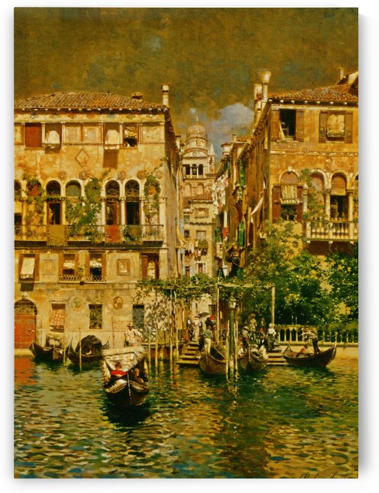 Leaving a Residence on the Grand Canal by Rubens Santoro