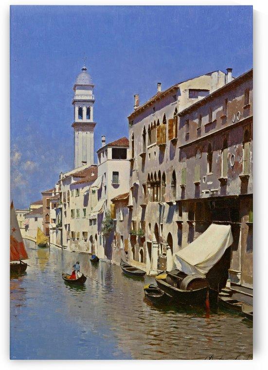 Along a Venetian canal by Rubens Santoro