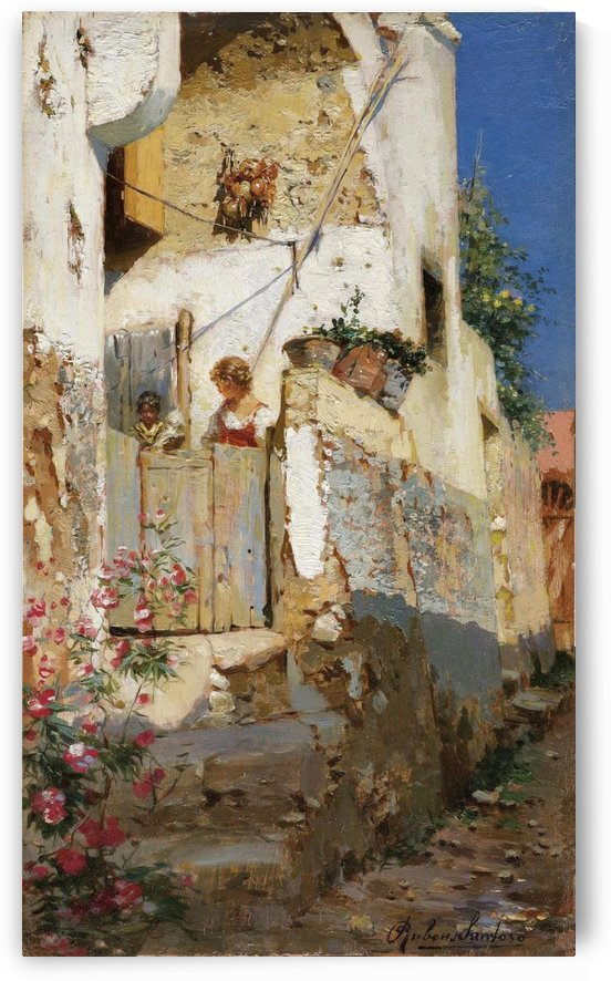 Young girl on Capri by Rubens Santoro