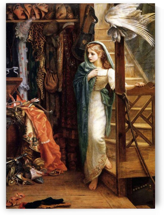Downstairs by Arthur Hughes