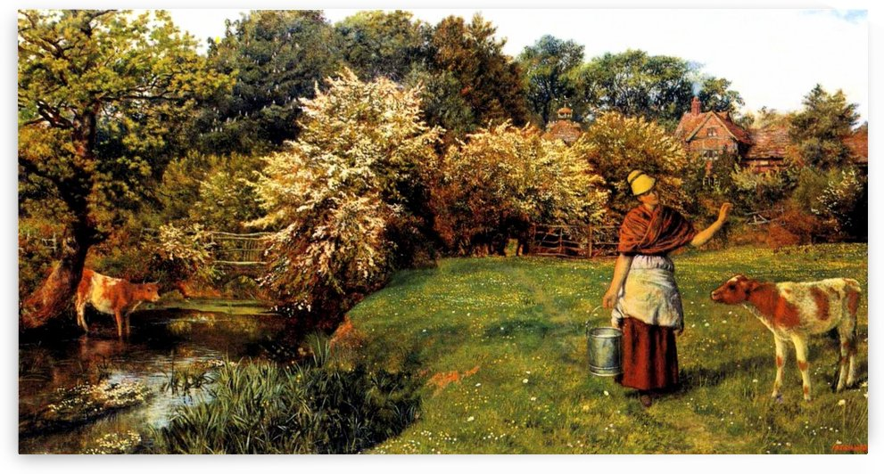 Poll the Milkmaid by Arthur Hughes
