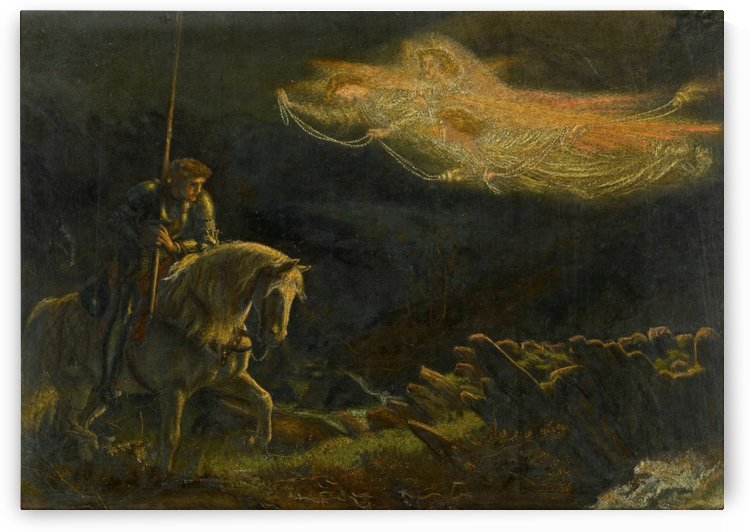 Sir Galahad, the quest for the Holy Grail by Arthur Hughes