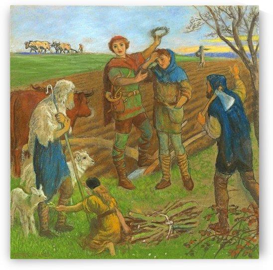 The crowning of Caedmon by Arthur Hughes