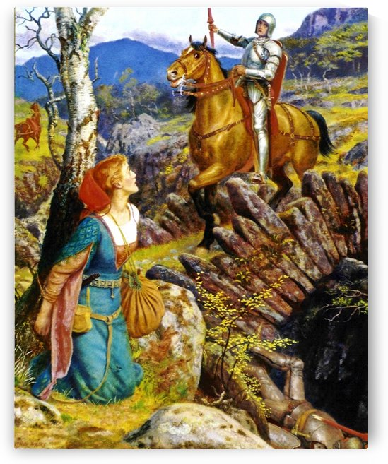 Overthrowing of the rusty knight by Arthur Hughes