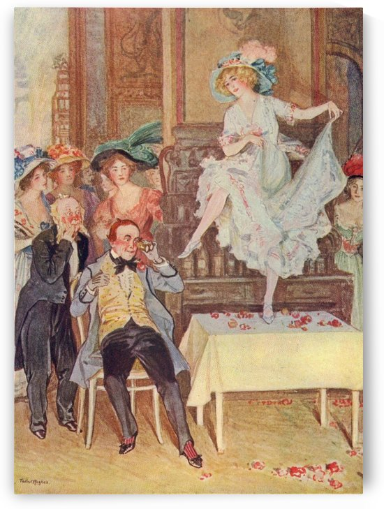 Gabrielle Ray as Frou Frou at the supper party by Talbot Hughes