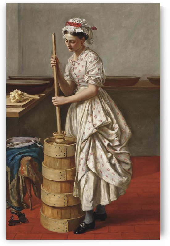 The butter chum by Valentine Cameron Prinsep