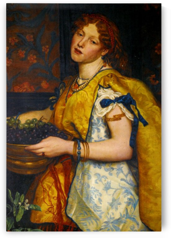 A girl carrying grapes by Valentine Cameron Prinsep