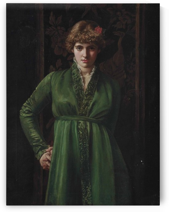 The green dress by Valentine Cameron Prinsep