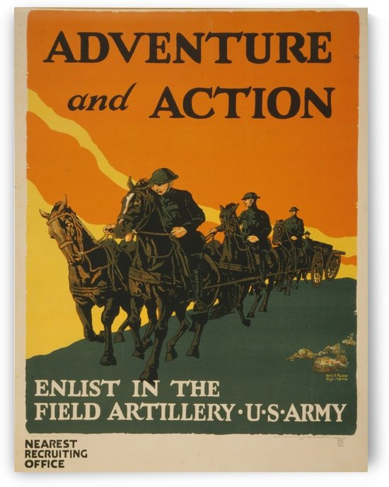 Adventure and Action by VINTAGE POSTER