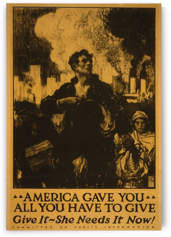 America gave it all by VINTAGE POSTER
