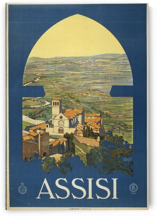 Assisi by VINTAGE POSTER