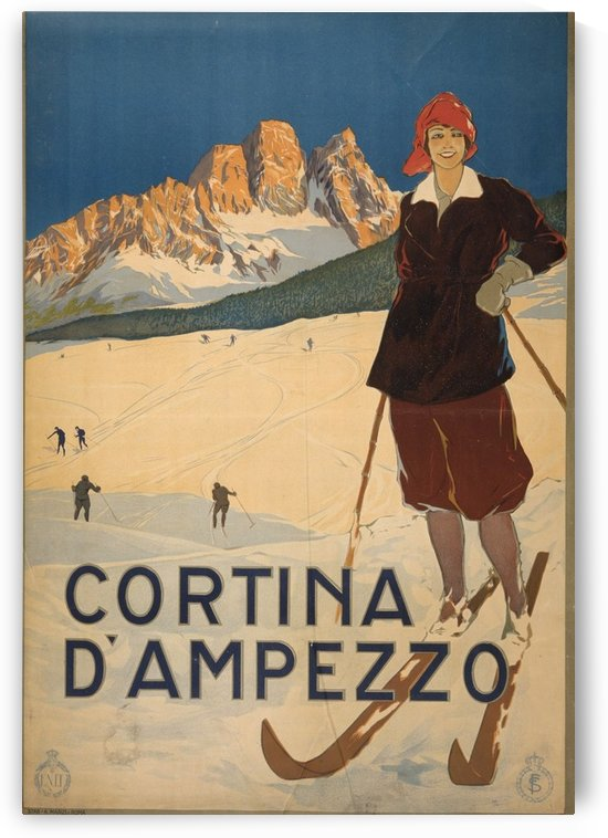 Cortina d Amprezzo by VINTAGE POSTER