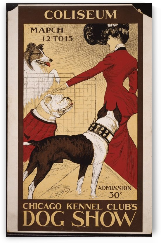 Dog Show 2 by VINTAGE POSTER