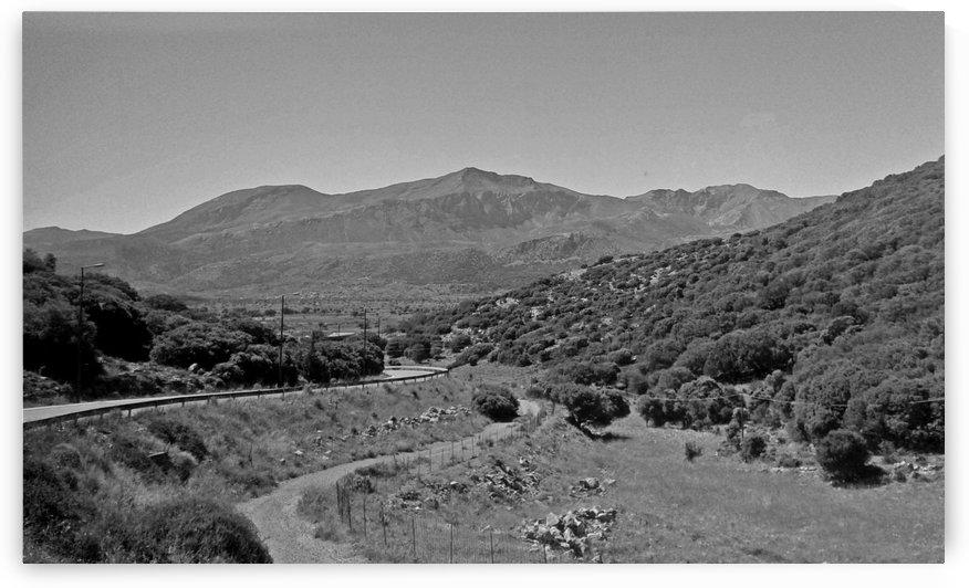 Greek roads in the rural area by Vlad Radulian