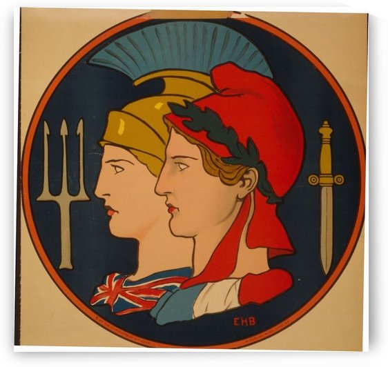 Emblem of France and Great Britain by VINTAGE POSTER
