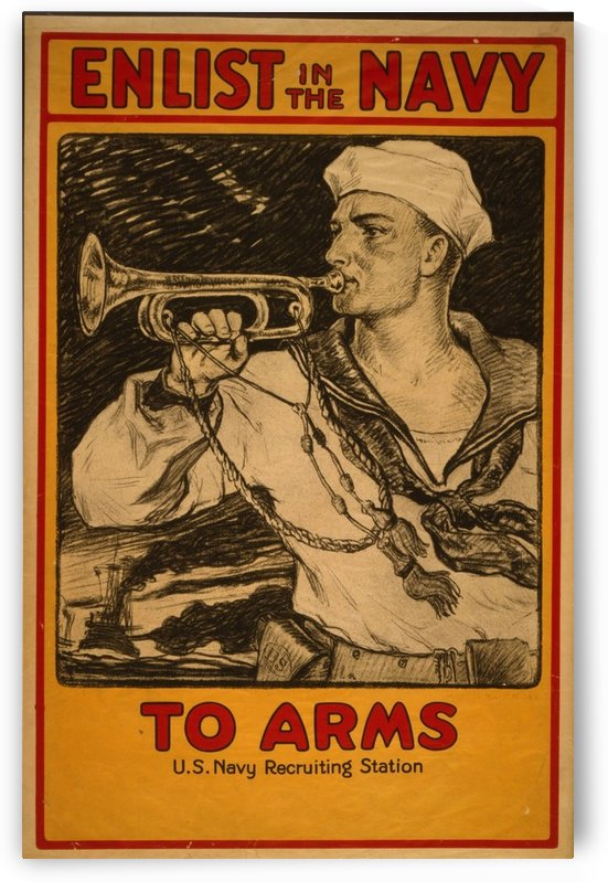 Enlist in the Navy by VINTAGE POSTER