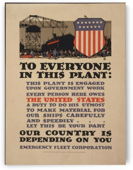 Government work by VINTAGE POSTER
