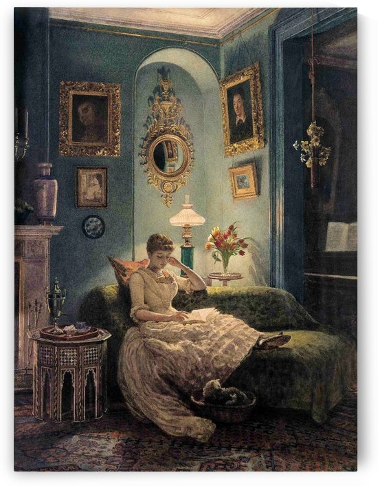 Evening at home by Edward Poynter