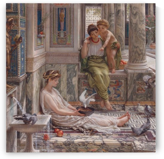 The corner of the villa by Edward Poynter