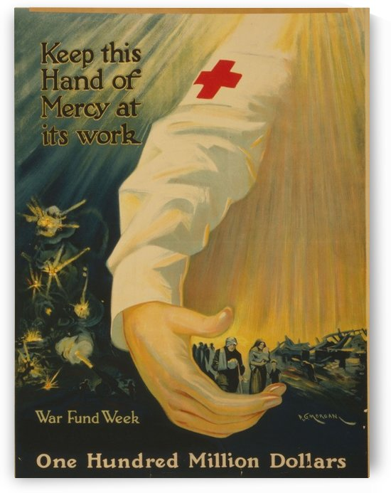 Hand of mercy by VINTAGE POSTER