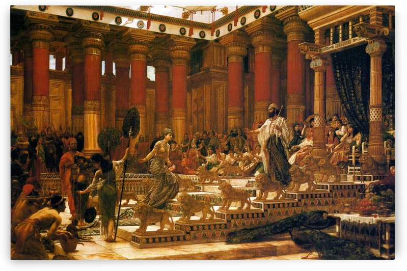 The Visit of the Queen of Sheba to King Solomon by Edward Poynter