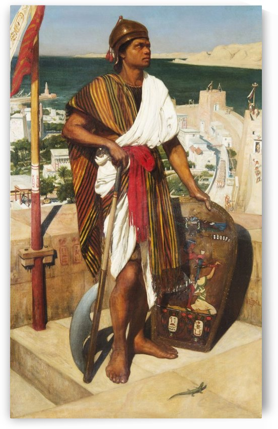 On guard in the time of the pharaons by Edward Poynter