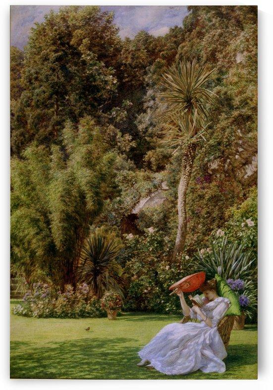 In a garden by Edward Poynter