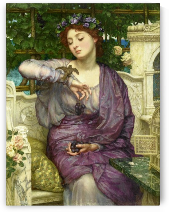 Lesbia and her sparrow by Edward Poynter