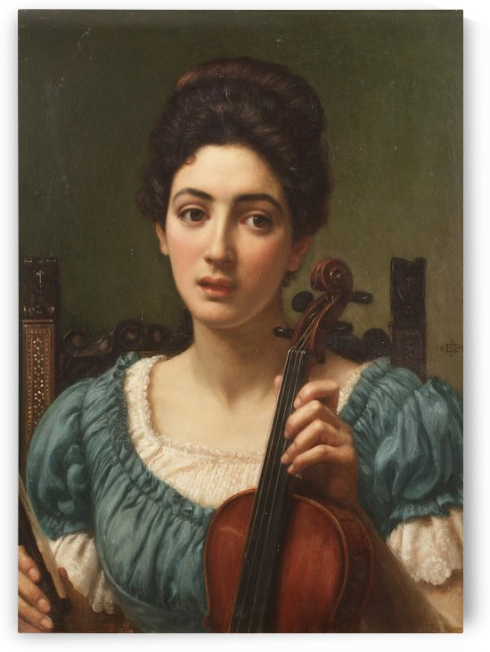 The Violinist by Edward Poynter