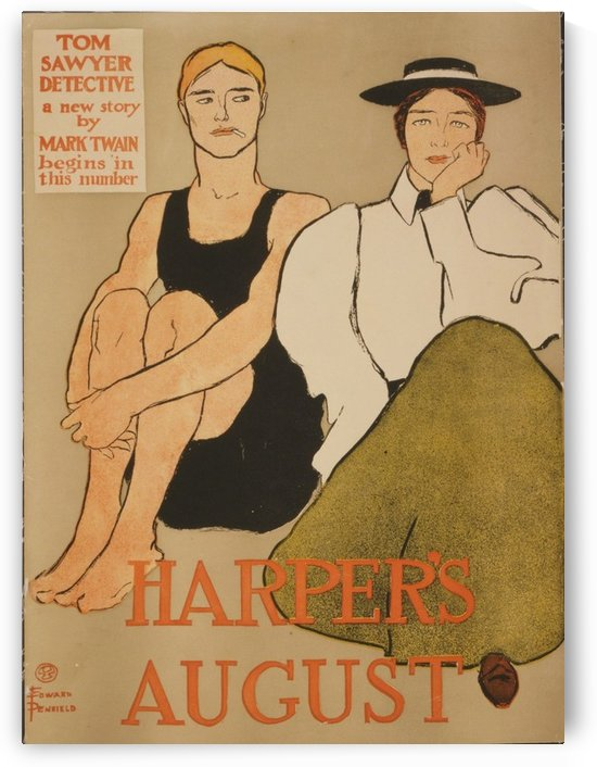 Harpers August by VINTAGE POSTER