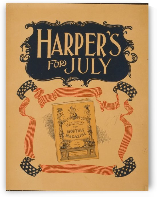 Harpers July by VINTAGE POSTER