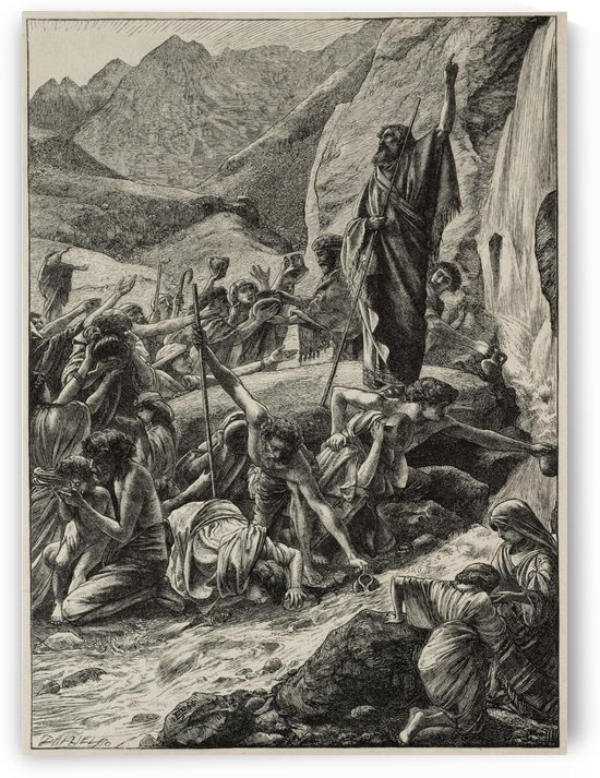 Moses strikes the rock by Edward Poynter