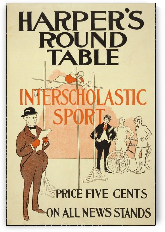 Harpers Round Table by VINTAGE POSTER