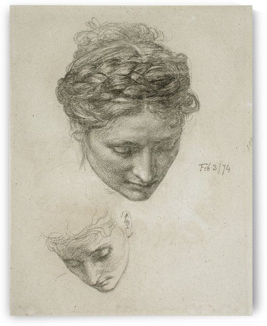 Study of Two Heads by Edward Poynter