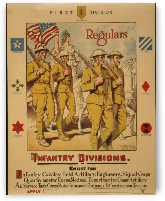 Infantry Regulars by VINTAGE POSTER