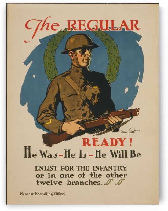 Infantry by VINTAGE POSTER