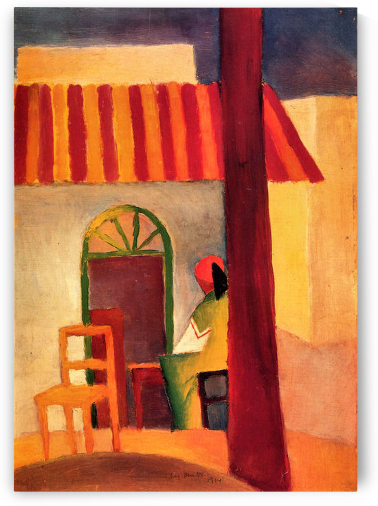 Turkish Cafe by August Macke by August Macke