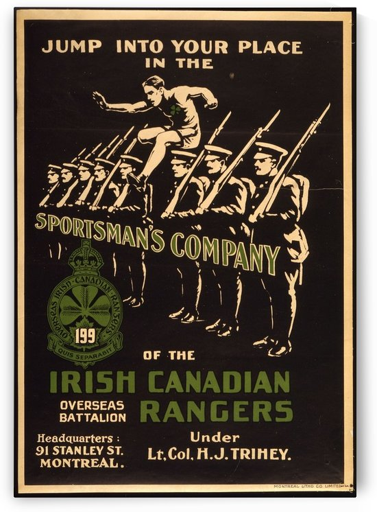 Irish Canadian Rangers by VINTAGE POSTER