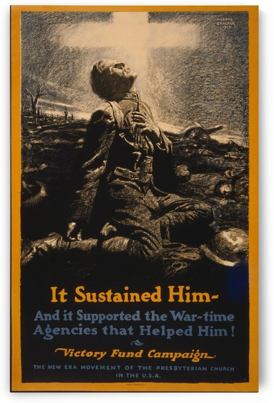 It sustained him by VINTAGE POSTER