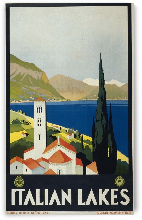 Italian Lakes by VINTAGE POSTER
