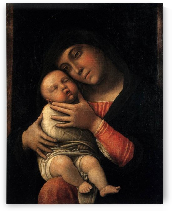 Portrait of Virgin and Child by Andrea Mantegna