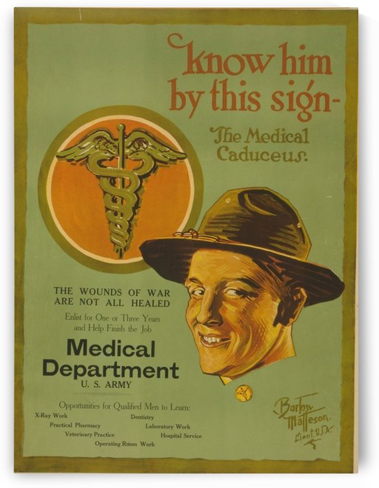 Medical Corps by VINTAGE POSTER