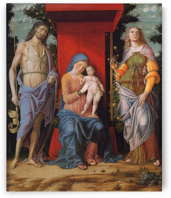 Virgin and Child with Magdalen and St John the Baptist by Andrea Mantegna