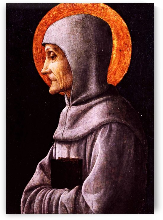 Saint Bernardine of Siena by Andrea Mantegna